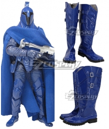 Star Wars republic senate guard Blue Shoes Cosplay Boots