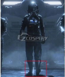 Star Wars tm Squadrons Titan Squadron Tie Fighter Pilot Black Shoes Cosplay Boots