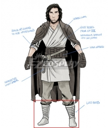 Star Wars Ben Solo White Shoes Cosplay Boots