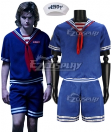 Stranger Things Season 3 Scoops Ahoy Steve Harrington Cosplay Costume