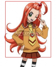 Sugar Sugar Rune Chocolate Orange Cosplay Wig