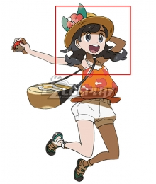 Pokémon Sun and Moon Pokemon Ultra Sun and Ultra Moon Selene Mizuki Black Cosplay Wig