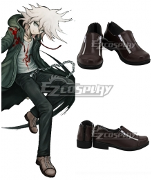 Super Danganronpa 2 Komaeda Nagito Brown Cosplay Shoes