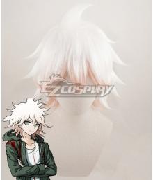 Super Danganronpa 2 Komaeda Nagito White Pink Cosplay Wig