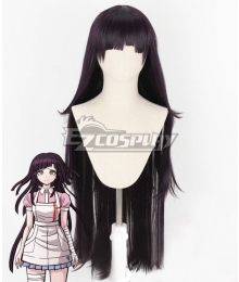 Super Danganronpa Dangan Ronpa 2 Mikan Tsumiki Black Purple Cosplay Wig