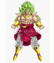 Super Dragon Ball Heroes God Broly Green Cosplay Wig