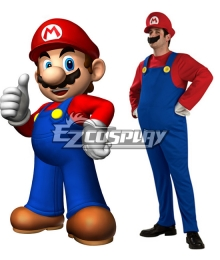 Super Mario Bros Mario Adult Cosplay Costume