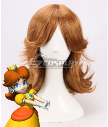 Super Mario Bros Princess Daisy Orange Brown Cosplay Wig