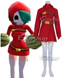 Super Mario Shy Guy Female Halloween Cosplay Costume