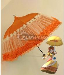 Super Smash Bros. Super Mario Princess Daisy Orange Umbrella Cosplay Accessory Prop