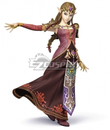 Super Smash Bros The Legend of Zelda Princess Zelda Alt Colors Cosplay Costume