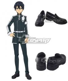 Sword Art Online Alicization SAO Anime Kirito Black Cosplay Shoes