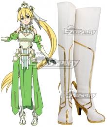 Sword Art Online Alicization SAO Kirigaya Suguha Leafa Long White Shoes Cosplay Boots