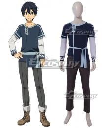 Sword Art Online Alicization SAO Kirito Cosplay Costume - A Edition