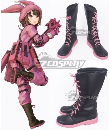 Sword Art Online Alternative: Gun Gale Online Llenn Kohiruimaki Karen Brown Shoes Cosplay Boots