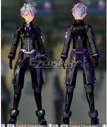 Sword Art Online: Fatal Bullet Male Protagonist Black Purple Skin Cosplay Costume