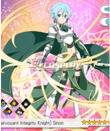 Sword Art Online: Memory Defrag Clairvoyant Integrity Knight Sinon Cosplay Costume