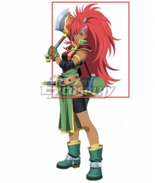 Tales of Destiny Mary Argent Red Cosplay Wig