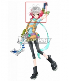 Tales of Graces Pascal White Red Cosplay Wig