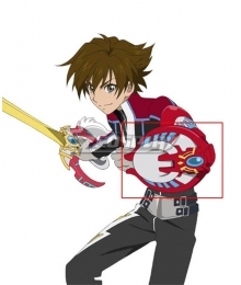 Tales of Hearts R Kor Meteor Shield Cosplay Weapon
