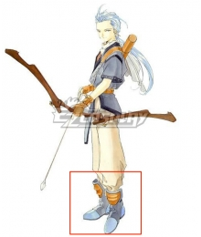 Tales of Phantasia Chester Burklight Blue Cosplay Shoes