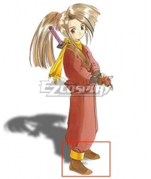Tales of Phantasia Suzu Fujibayashi Brown Cosplay Shoes