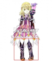Tales of Xillia Elise Lutus Purple Shoes Cosplay Boots