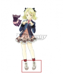 Tales of Xillia Elize Lutus White Cosplay Shoes