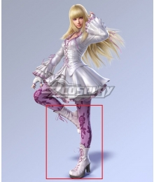 Tekken 7 Lili de Rochefort White Shoes Cosplay Boots