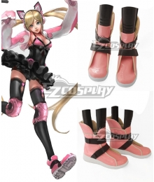 Tekken Lucky Chloe Cosplay Pink Shoes Cosplay Boots