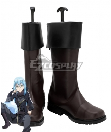 That Time I Got Reincarnated As A Slime Season 2 Tensei Shitara Suraimu Datta Ken Rimuru Tempest Brown Shoes Cosplay Boots