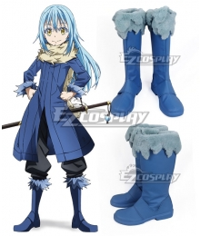 That Time I Got Reincarnated As A Slime Tensei Shitara Suraimu Datta Ken Rimuru Blue Shoes Cosplay Boots