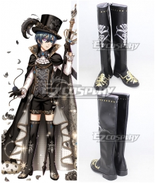 The 100 Sleeping Princes & the Kingdom of Dreams Black Butler Ciel Phantomhive Black Shoes Cosplay Boots