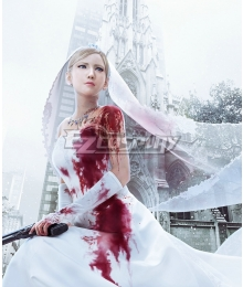 The 3rd Birthday Aya Brea Wedding Dress Cosplay Costume