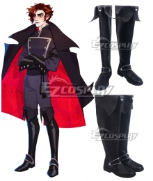 The Arcana Julian Devorak Black Shoes Cosplay Boots