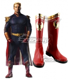 The Boys Homelander Red Shoes Cosplay Boots - No Metal Accessory