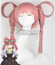 The Great Ace Attorney Gyakuten Saiban Iris Waston Pink Cosplay Wig