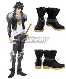 Cautious Hero:  The Hero is Overpoweredbut Overly Cautious Seiya Ryuguin Black Cosplay Shoes