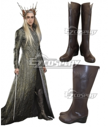 The Hobbit Thranduil Brown Shoes Cosplay Boots