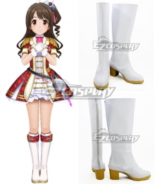 The Idolmaster Cinderella Girls: Starlight Stage Uzuki Shimamura White Shoes Cosplay Boots