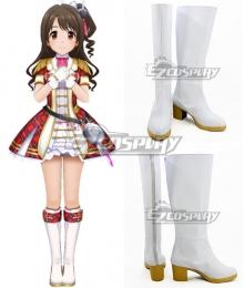 The Idolmaster Cinderella Girls: Starlight Stage Uzuki Shimamura White Shoes Cosplay Boots