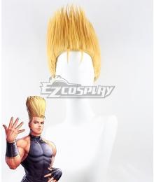 The King Of Fighters KOF Benimaru Nikaido Golden Cosplay Wig