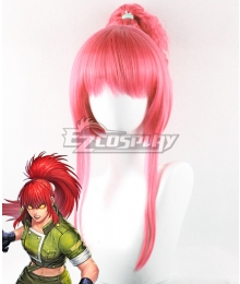The King Of Fighters KOF Orochi Leona  Red Cosplay Wig