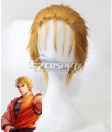 The King Of Fighters KOF Ryo Sakazaki Golden Cosplay Wig
