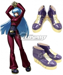 The King of Fighters Kula Diamond Purple Cosplay Shoes