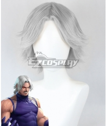 The King of Fighters Omega Rugal Bernstein Silver Cosplay Wig