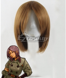 The King of Fighters Whip  Brown Cosplay Wig