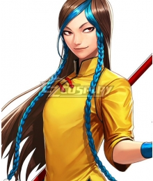 The King Of Fighters XI KOF11 Shion Brown Blue Cosplay Wig