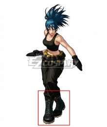 The King Of Fighters XIII KOF Leona Blue Shoes Cosplay Boots