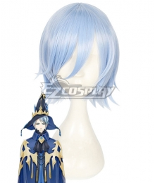 The King's Avatar Quan Zhi Gao Shou Wang Jiexi Vaccaria Blue Cosplay Wig